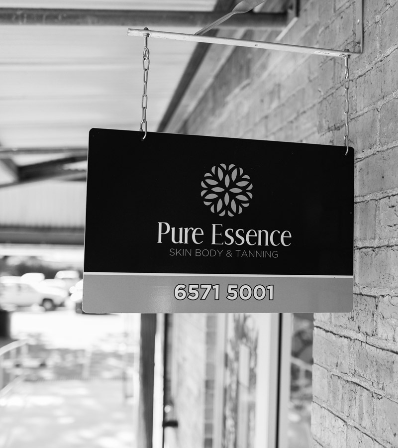 Pure Essence Skin Body & Tanning Salon Sign
